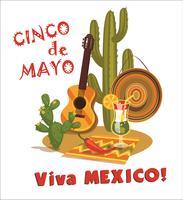 Cinco de Mayo. Vector illustratie.
