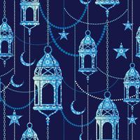 Ramadan achtergrond. Vector naadloos patroon.