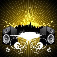 muziek illustratie met luidsprekers