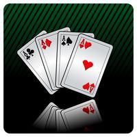 casino illustratie met pokerkaarten