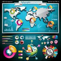Wereldkaart en informatiegrafiek