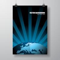 Vector illustratie van de wereldkaart