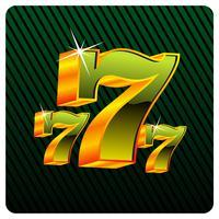 gokken illustratie met zevens casino elementen