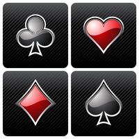 illustratie met casino elementen gokken vector