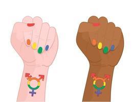lgbt-vectorpictogram voor web. regenboog transgender symbool. vector