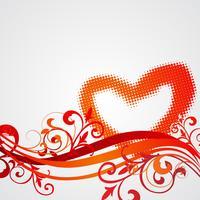 De dagillustratie van de valentijnskaart met hartsymbolen en bloemen beweging veroorzakend.