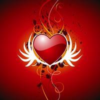 Valentijnsdag illustratie met mooie open haard op rode achtergrond vector