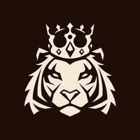 Tijger in Crown Vector Mascot