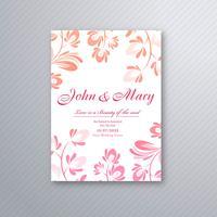 Decoratieve bloemenhuwelijksuitnodiging kaart ontwerp vector
