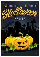 Halloween-partij posterontwerp