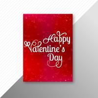 Valentijnsdag kleurrijke harten kaart brochureontwerp