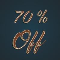 Realistische lederen percentage ingesteld, vectorillustratie