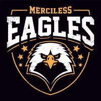 Eagle mascotte Grunge embleem sjabloon vector