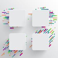 Dynamische en kleurrijke sjabloon voor reclame, vectorillustratie vector