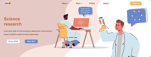 wetenschappelijke onderzoekswebbanner voor promotiemateriaal voor sociale media vector