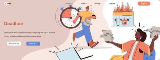 deadline brandende webbanner voor promotiemateriaal voor sociale media vector