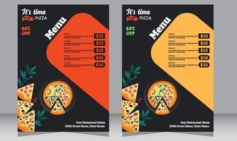restaurant flyer, pizzeria flyer, poster, food flyer vector