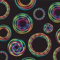 Kleurrijke lijnen in 3D op zwarte achtergrond, vectorillustratie vector
