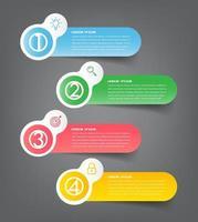 moderne infographic tekstvaksjabloon, infographicsbanner vector