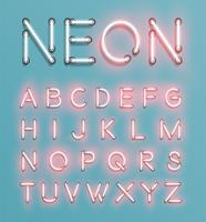 Realistisch gezet neonkarakter, vector