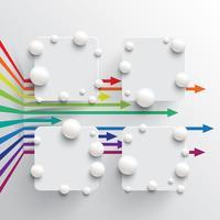 Kleurrijk en schoon malplaatje met pijlen, vectorillustratie