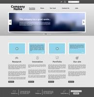 Modern websitemalplaatje voor zaken, vectorillustratie