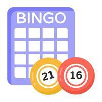 bingo lotto spel vector