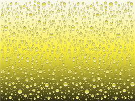 Realistische waterdalingen op een duidelijk glas, vectorillustratie