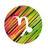 Een dierenriemteken van Steenbok, vectorillustratie