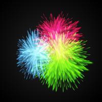 Kleurrijk explodeert / bloeit, vectorillustratie vector
