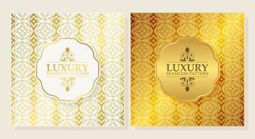 luxe ornament patroon ontwerp achtergrond vector