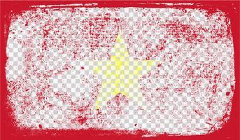 Grounge-gestileerde vlag, vectorillustratie