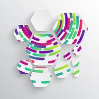 Afgeronde vorm met schaduw en kleurrijke cirkel achtergrond
