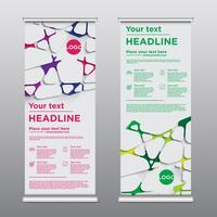 Kleurrijke rollup ontwerpvlieger, vectorillustratie