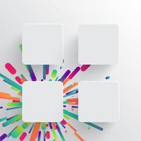 Kleurrijk leeg malplaatje voor reclame, vectorillustratie
