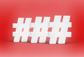 Hoog gedetailleerde 3D-lettertype tekens, vectorillustratie vector