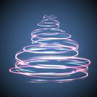 Kerstboom gloeiend en fonkelend effect voor reclame vector