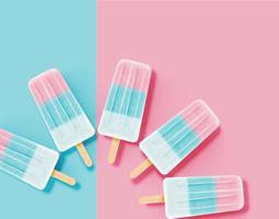 Realistisch schoon en pastelkleurijs, vectorillustratie