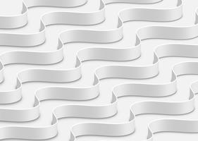 Hoog-gedetailleerde abstracte witte golven, vectorillustratie