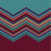 Zigzag kleurrijk gebreid patroon voor achtergrond, vectorillustratie