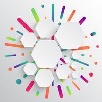 Schoon en kleurrijk malplaatje voor reclame met blauwe pijlen, vectorillustratie vector
