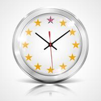 Illustratie met klok voor BREXIT - Groot-Brittannië die de EU verlaten, vector