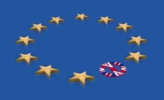 Illustratie voor BREXIT - Groot-Brittannië verlaat de EU, vector