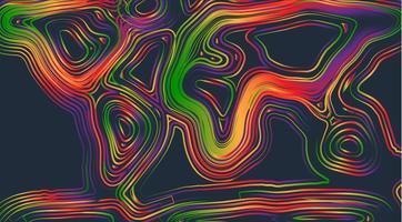 Kleurrijke kaart van de wereld, vectorillustratie