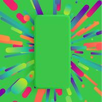Realistische matte smartphone met kleurrijke achtergrond, vectorillustratie