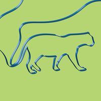 Het realistische lint vormt een dier, vectorillustratie
