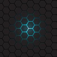 Donkergrijze hexagon achtergrond, vector