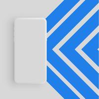 Realistische mat kleurrijke telefoon, vectorillustratie