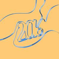 Het abstracte lint vormt een jaar, vectorillustratie vector