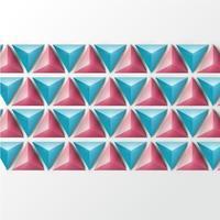 3D-realistische driehoek achtergrond, vectorillustratie